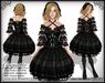 [Wishbox] Coquette (Black) - Gothic Lolita EGL Dress w/ Black Lace