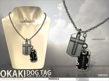 [MANDALA]OKAKI Dog tag Necklace/SILVER(wear me to unpack