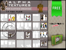 *FREE GIFT Full Perm* Basic Textures for Clothes Creating 1 || tga.psd & preview clothes