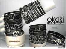 UNISEX[MANDALA]OKAKI Bracelet set/Black(wear me to unpack