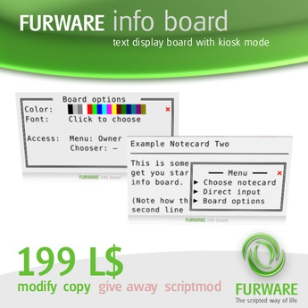 FURWARE info board