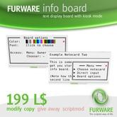 FURWARE info board