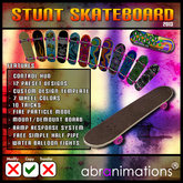 Stunt Skateboard by Abranimations [ NEW DISCOUNTED PRICE ]