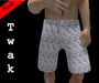 *Twak* Mesh Shorts White Silk
