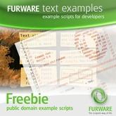 FURWARE text examples