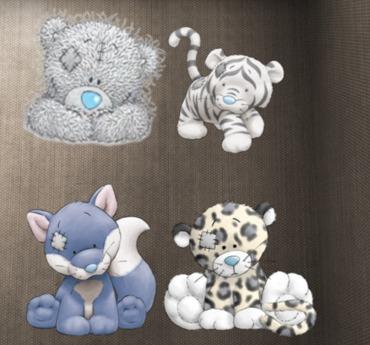 cute animals 4 piece