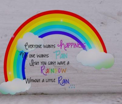 Rainbow wall decal