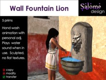 Old Wall Fountain Lion / Roman