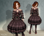 [Wishbox] Coquette (Plum Purple) - Gothic Lolita EGL Dress w/ Black Lace
