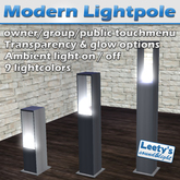 Modern Lightpole 1 prim mesh