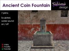 Ancient Coin Fountain / Roman