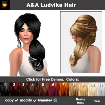 Super Second Life Marketplace Aa Ludvika Hair Demos 70S Hairstyle Natural Hairstyles Runnerswayorg