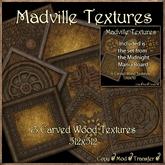 Madville Textures - Carved Ornamental Wood Frames, Old tagFantasy tagMedieval