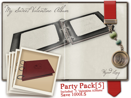 -W-[ Photo Album Part ]  My Sweet Valentine 5 Pack (mod/trans)