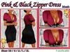 Pink & Black Zipper Dress [Mesh] with a Lola Tango Applier