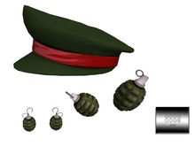 Army Accessories: Cap, Earrings, Mouthie - even.flow