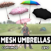 Scripted Retractable Mesh Umbrellas