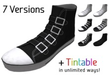 Buckle High Top Sneakers, tintable in every color!
