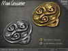Rings - Celtic Whirlpool Ring - Gold and Silver