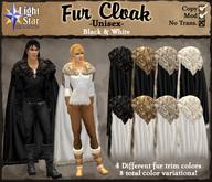 *LightStar-FurCloak-Black&White