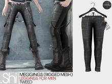 .Shi : Tweed Meggings [Homme] [Rigged Mesh]