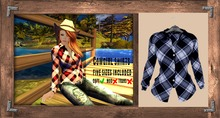 "Cowgirl Shirt ""dark blue"" (mesh) - even.flow"