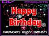 Fireworks happy birthday