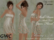 GWC Mesh Dress Adult -Green Floral