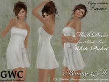 GWC Mesh Dress Adult -White