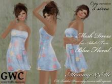 GWC Mesh Dress Adult -Blue Floral