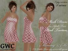 GWC Mesh Dress Adult -Pink Tartan