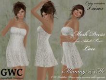 GWC Mesh Dress Adult -Lace