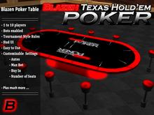 Blazen Poker ( 1 -10 player Tournament Poker Table )