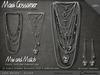 Necklace - Love Rocker Necklace Set - Silver And Black Diamonds (V1)