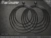 Mesh Earrings - Kizzy Gypsy Hoops - Black Titanium (V1)