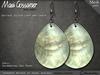 Mesh Earrings - Shell - Teardrop - Sea Pearl (V1)