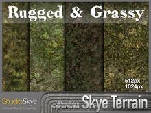 Skye Terrain Textures - Rugged & Grassy 57 x 2 Full Perms Grassy Moss Terrain Textures