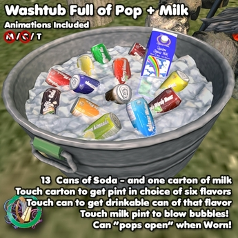 R(S)W Soda (and Milk) in a Washtub - 13 kinds