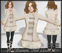 [Wishbox] Russian Doll Coat (Ivory) - Folkloric Fairy Tale Princess Snow Coat
