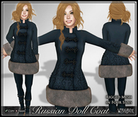 [Wishbox] Russian Doll Coat (Blue Wolf) - Folkloric Fairy Tale Princess Snow Coat