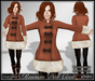 [Wishbox] Russian Doll Coat (Pumpkin Latte) - Folkloric Fairy Tale Princess Snow Coat