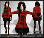 [Wishbox] MESH Russian Doll Coat (Red/Black) - Folkloric Fairy Tale Princess Snow Coat