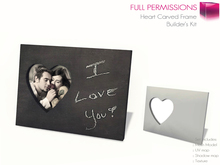 Full Perm Mesh Customizable Heart Carved Photo Frame - Builder's Kit
