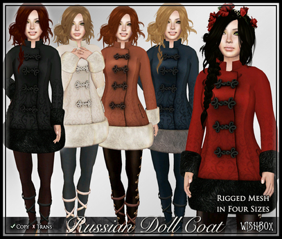 [Wishbox] Russian Doll Coat (MEGAPACK) - Folkloric Fairy Tale Princess Snow Coat