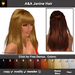 A&A Janine Hair 11 Colors Value Pack. Long straight flexi hairstyle with knotted tail