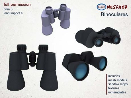 *M n B* Binoculares (meshbox)