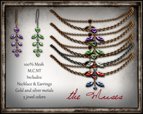 The Muses Jewelry . Valois . 2 metals, 5 pearl colors