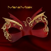 555b-Moulin Rouge-The MEN'S Mask-Gld/Red(BOXED)-Jewelry by jake