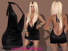 .::voxxi::.  KEY Mesh Halter Dress Black