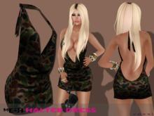 .::voxxi::.  KEY Mesh Halter Dress Camo